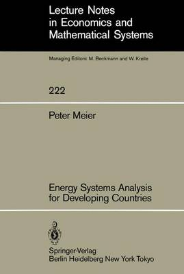 Energy Systems Analysis for Developing Countries