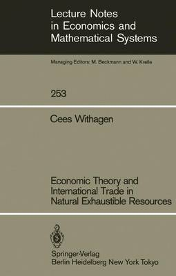 Economic Theory and International Trade in Natural Exhaustible Resources