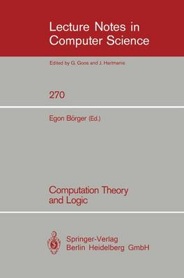 Computation Theory and Logic
