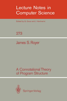 A Connotational Theory of Program Structure
