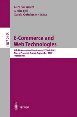 E-Commerce and Web Technologies: Third International Conference, EC-Web 2002, Aix-en-Provence, France, September 2-6, 2002, Proceedings