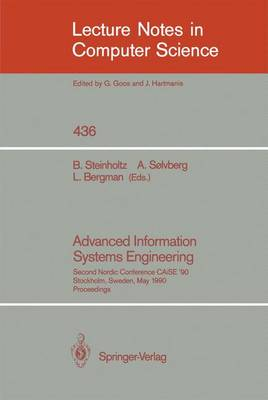Advanced Information Systems Engineering: Second Nordic Conference CAiSE '90, Stockholm, Sweden, May 8-10, 1990, Proceedings