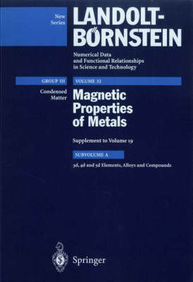 3d, 4d and 5d Elements, Alloys and Compounds