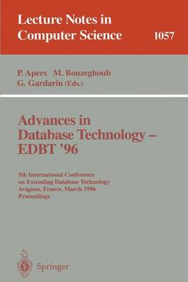 Advances in Database Technology EDBT '96: 5th International Conference on Extending Database Technology, Avignon, France, March 25-29 1996, Proceedings.