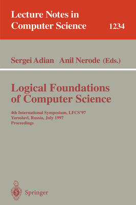 Logical Foundations of Computer Science: 4th International Symposium, LFCS'97, Yaroslavl, Russia, July, 6 - 12, 1997, Proceedings