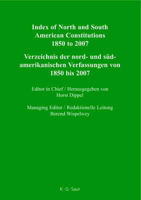 Index of North and South American Constitutions 1850 to 2007: n.a.