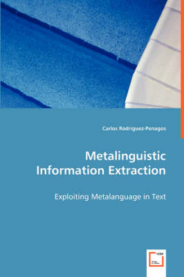 Metalinguistic Information Extraction