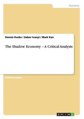 The Shadow Economy - A Critical Analysis