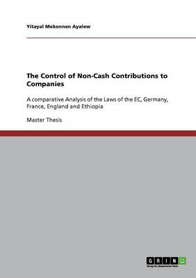 The Control of Non-Cash Contributions to Companies