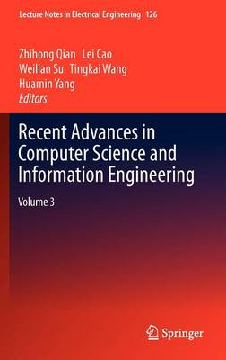 Recent Advances in Computer Science and Information Engineering: Volume 3