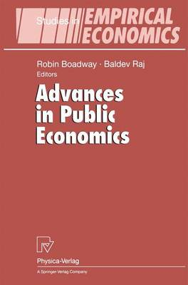 Advances in Public Economics