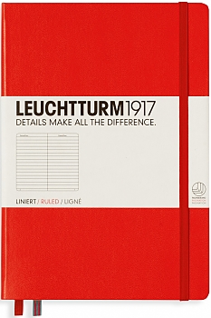 Red Medium Ruled Hardcover Notebook