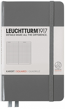 Anthracite Pocket Squared Hardcover Notebook