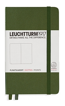 Army Green Pocket Dotted Hardcover Notebook