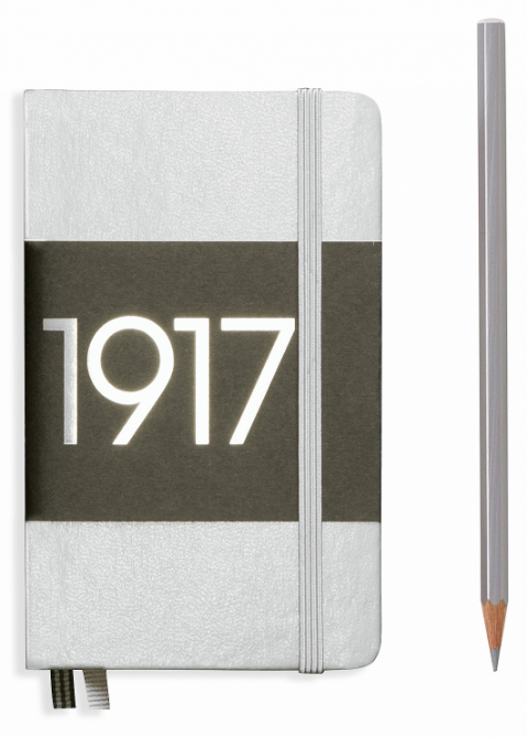 Silver Pocket Ruled Notebook