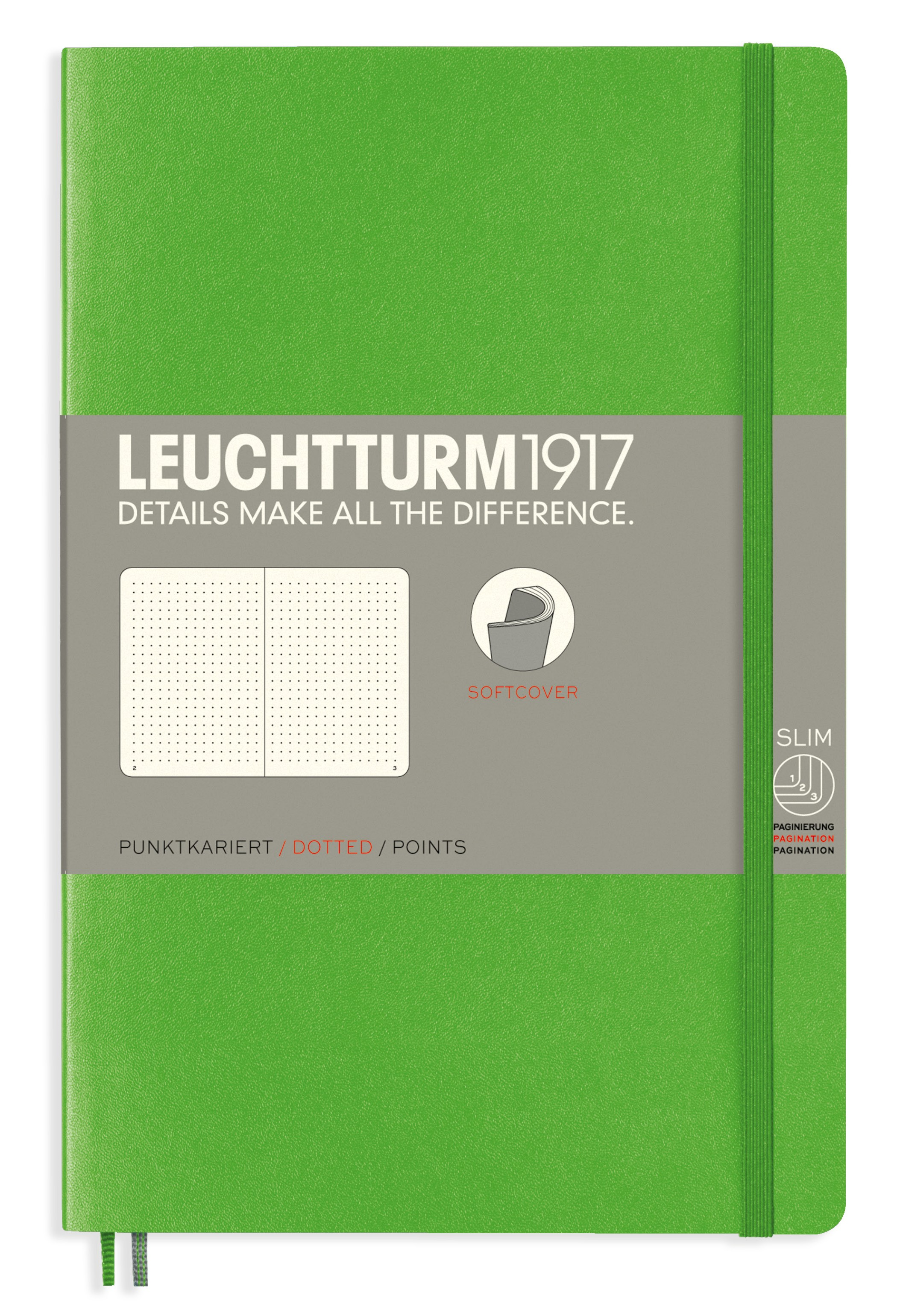 Fresh Green B6+ Dotted Softcover Notebook