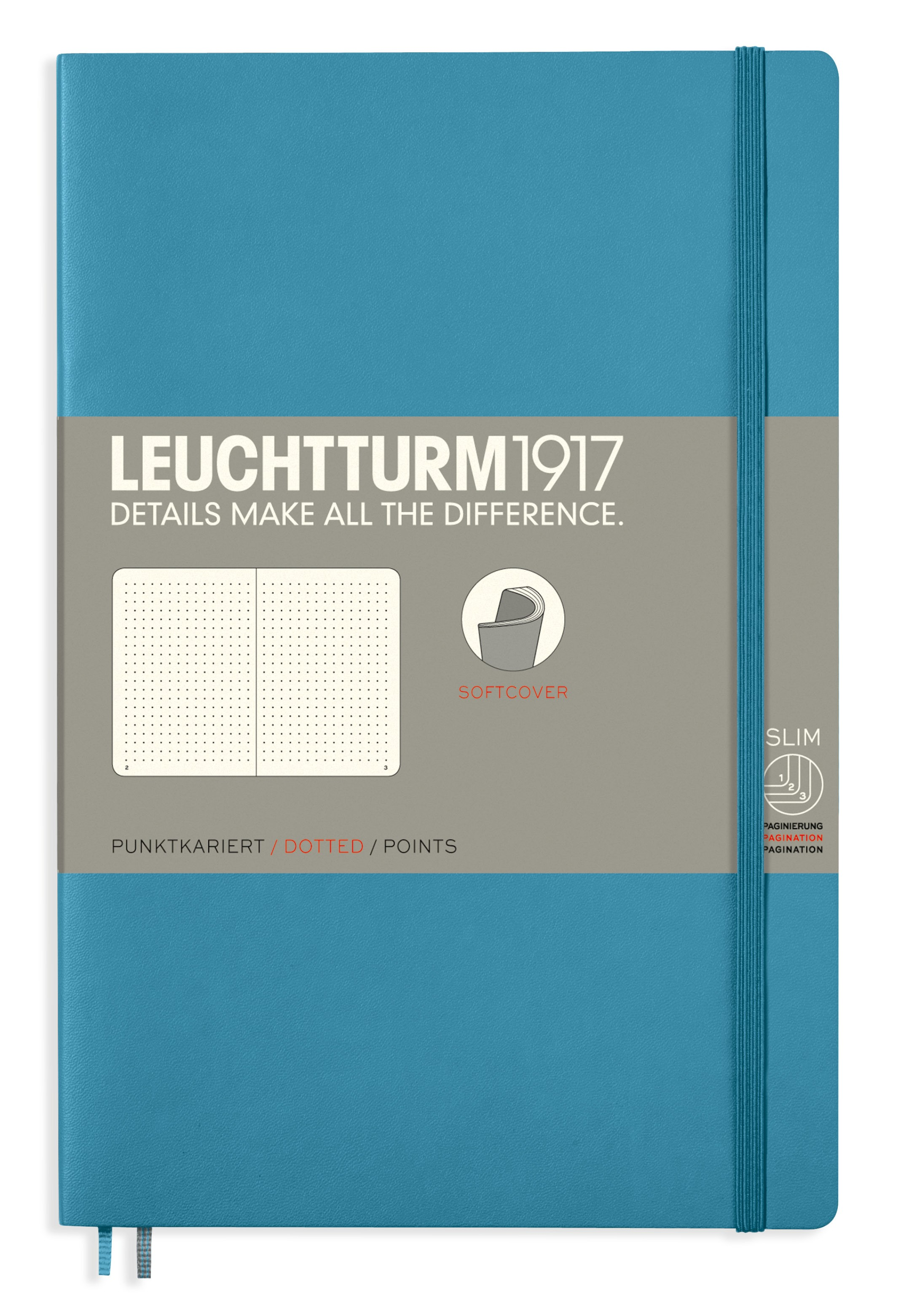 Nordic Blue B6+ Dotted Softcover Notebook