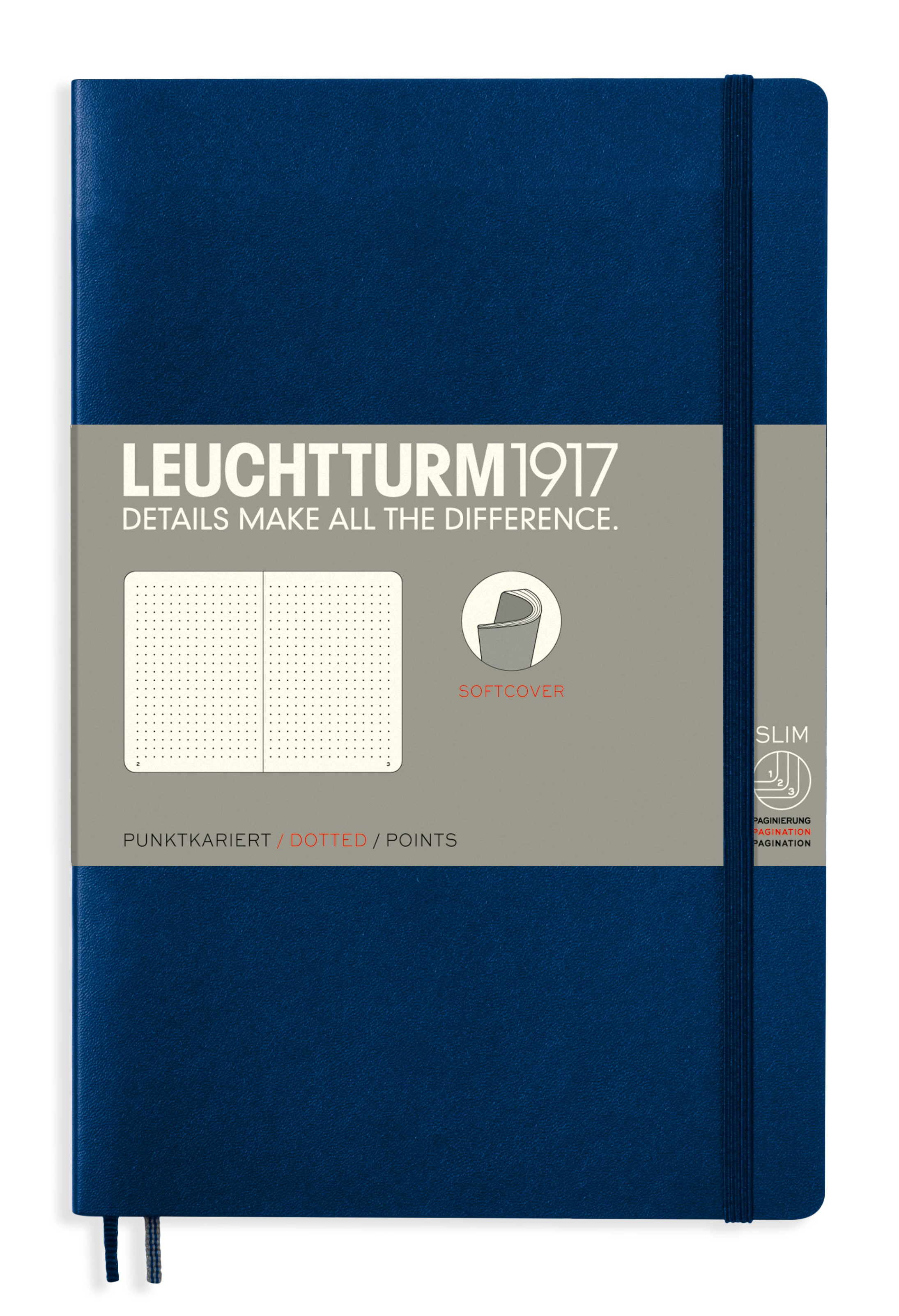 Navy B6+ Dotted Softcover Notebook