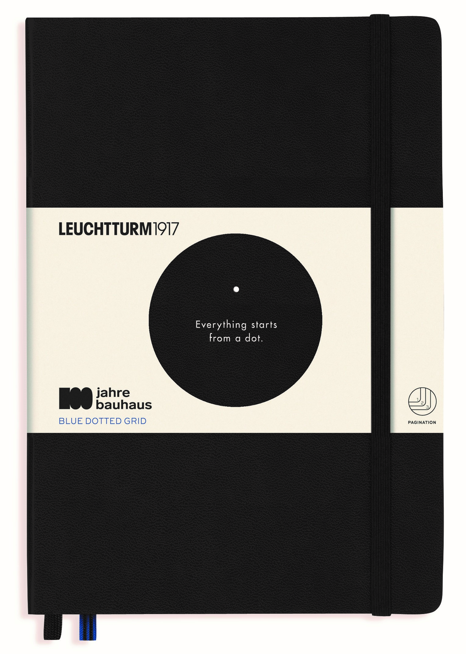 Black Bauhaus Limited Edition Dotted Medium Notebook