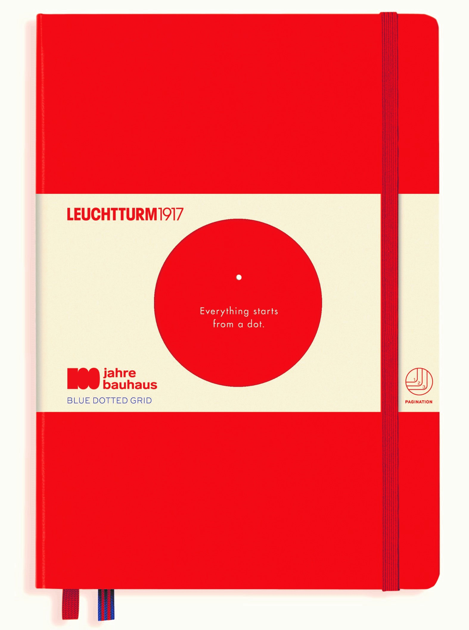 Red Bauhaus Limited Edition Dotted Medium Notebook