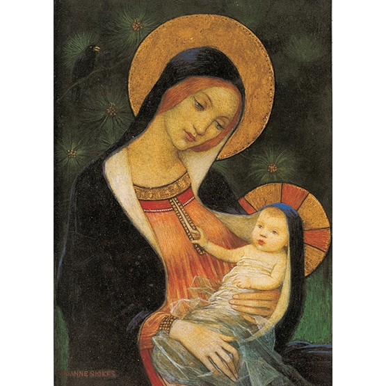 Xmas Charity Madonna and Child Rectangle Pack of 8 Cards
