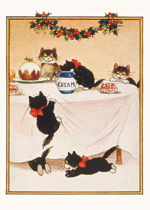 Xmas Charity Cats Christmas pack of 8 Cards