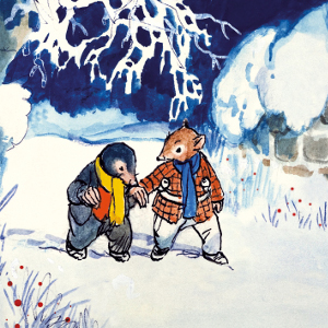 Xmas Charity Ratty & Mole in the Snow pack of 8 Cards