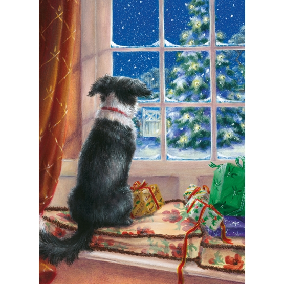 Xmas Charity On Windowsill Rectangle Pack of 8 Cards