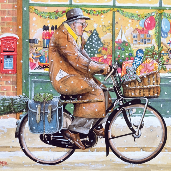 Xmas Charity Grandads Coming for Christmas Large Sqr Pack of 5 Cards