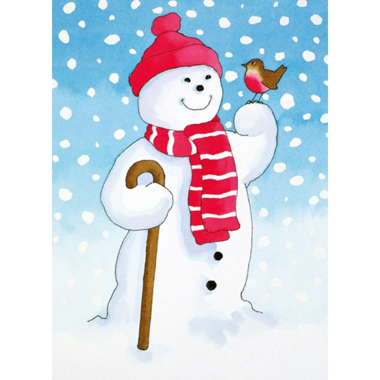 Xmas Charity Snowmans Friend Rectangle Pack of 8 Macmillan Cards
