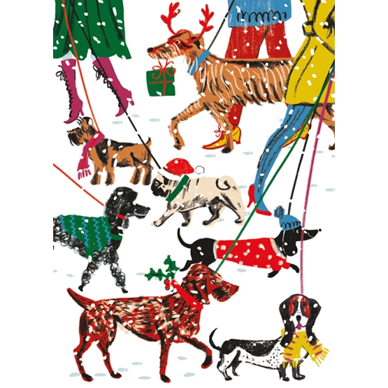 Xmas Charity Winter Walkies Pack of 8 Cards