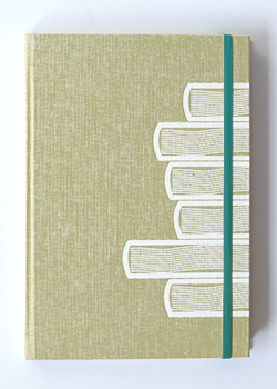 Book Stack Sand Linen Hard Cover Notebook