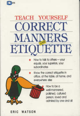 Correct Manners and Etiquette