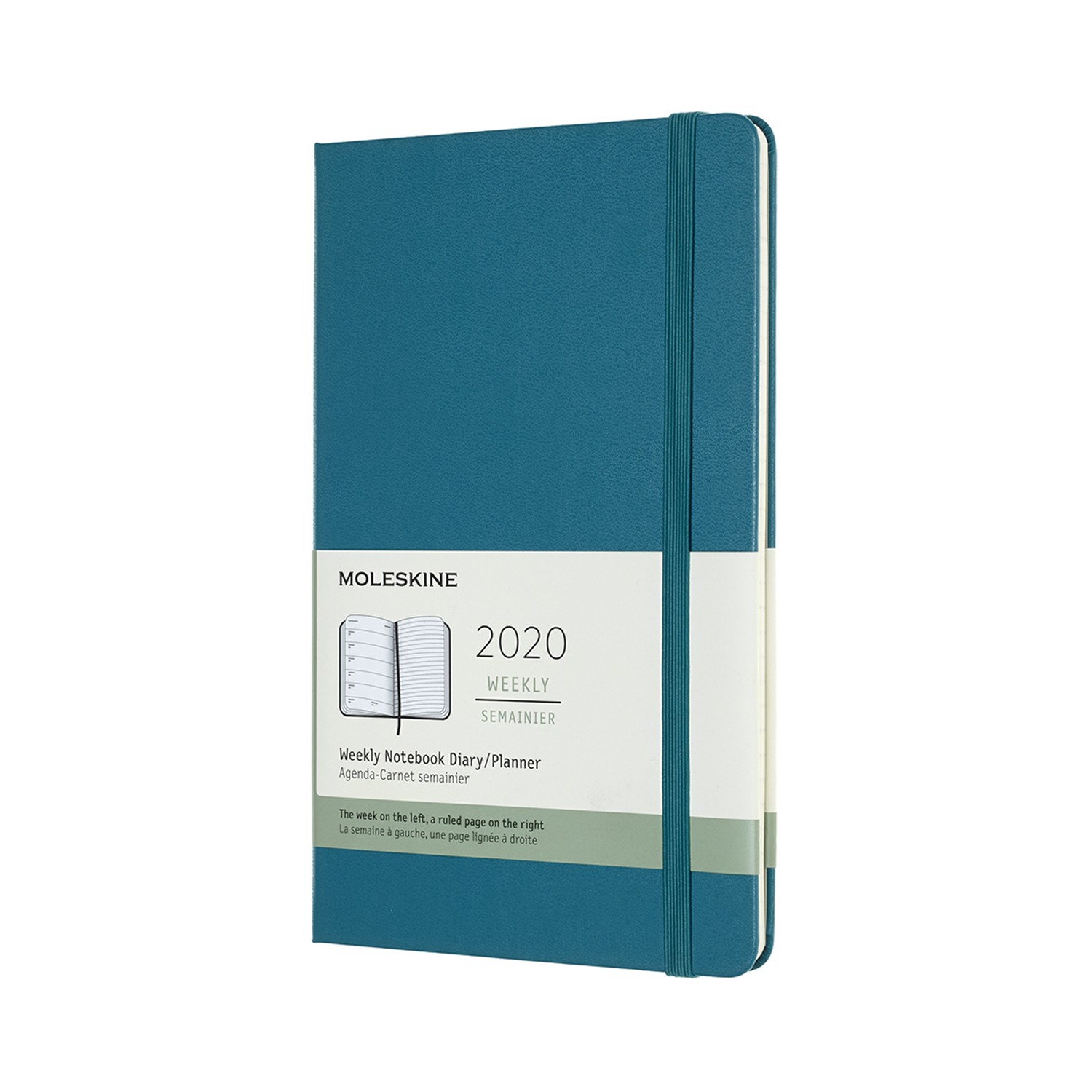 MAGNETIC GREEN WEEKLY LARGE HARDCOVER 2020 DIARY