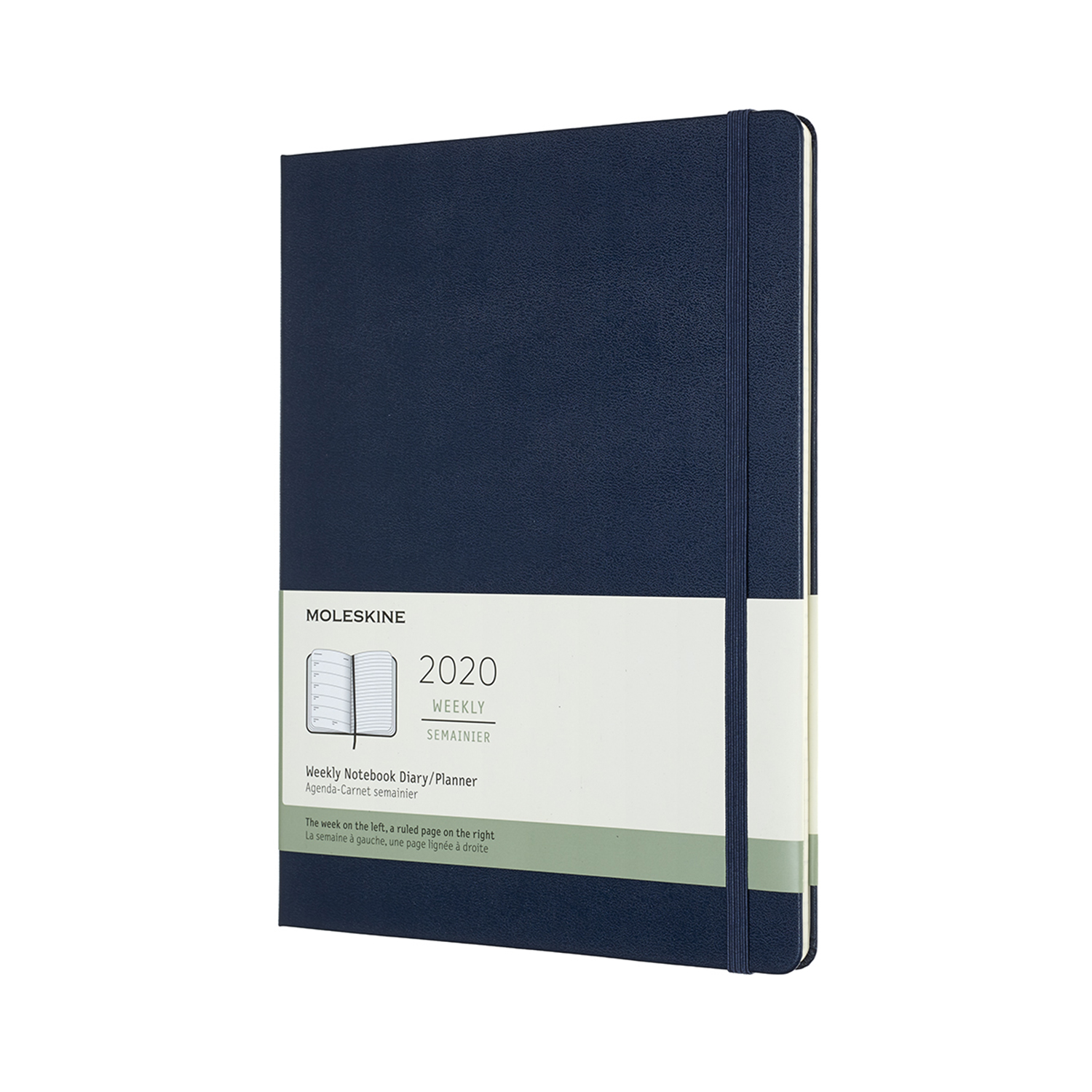 SAPPHIRE BLUE WEEKLY EXTRALARGE HARDCOVER 2020 DIARY