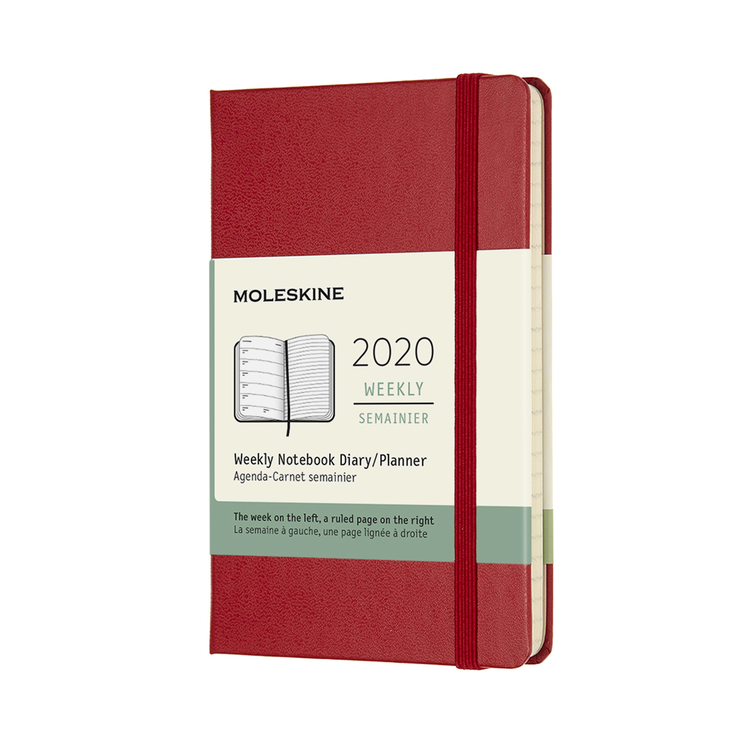 SCARLET RED WEEKLY POCKET HARDCOVER 2020 DIARY
