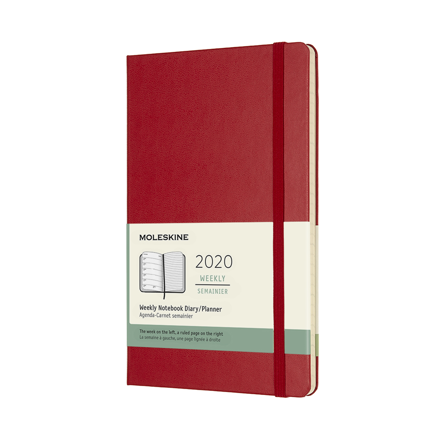 SCARLET RED WEEKLY LARGE HARDCOVER 2020 DIARY