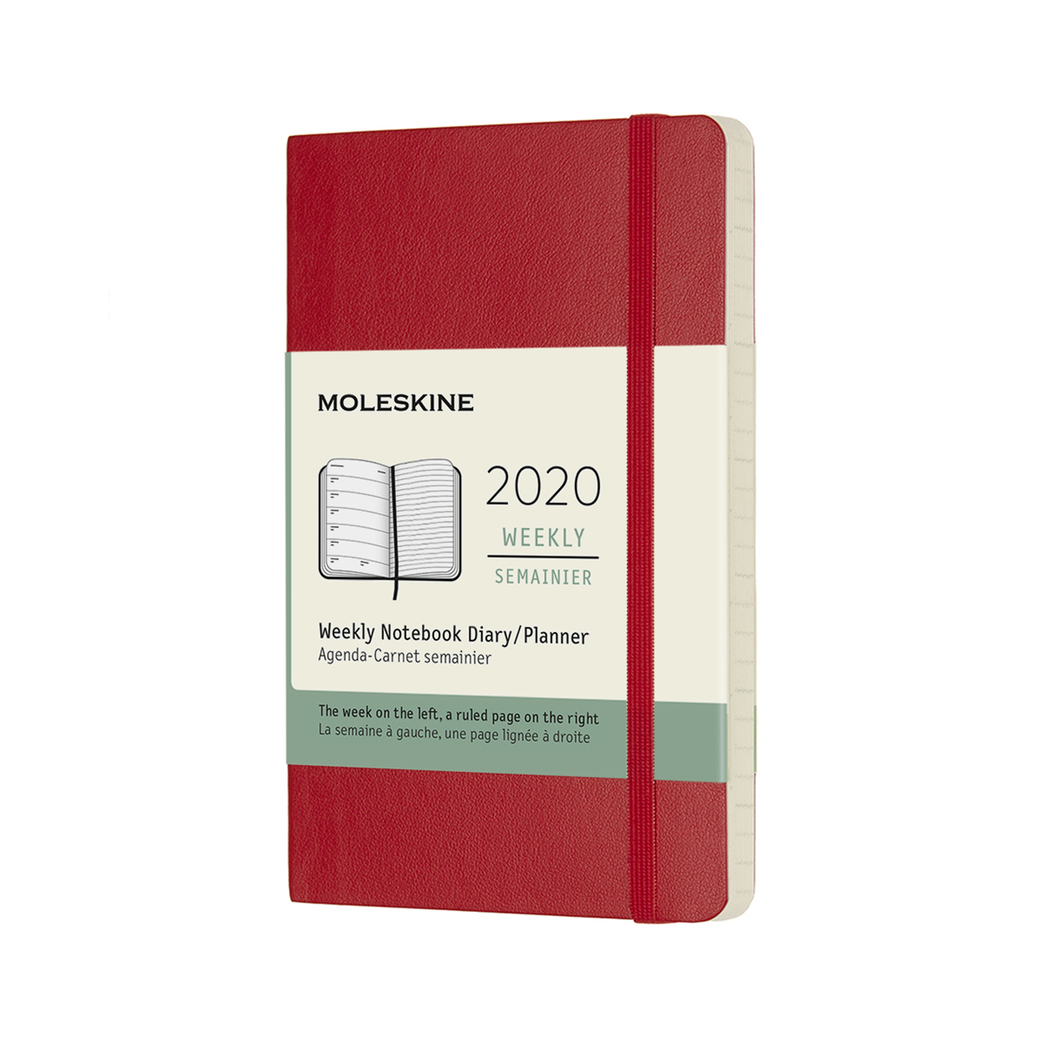 SCARLET RED WEEKLY POCKET SOFTCOVER 2020 DIARY