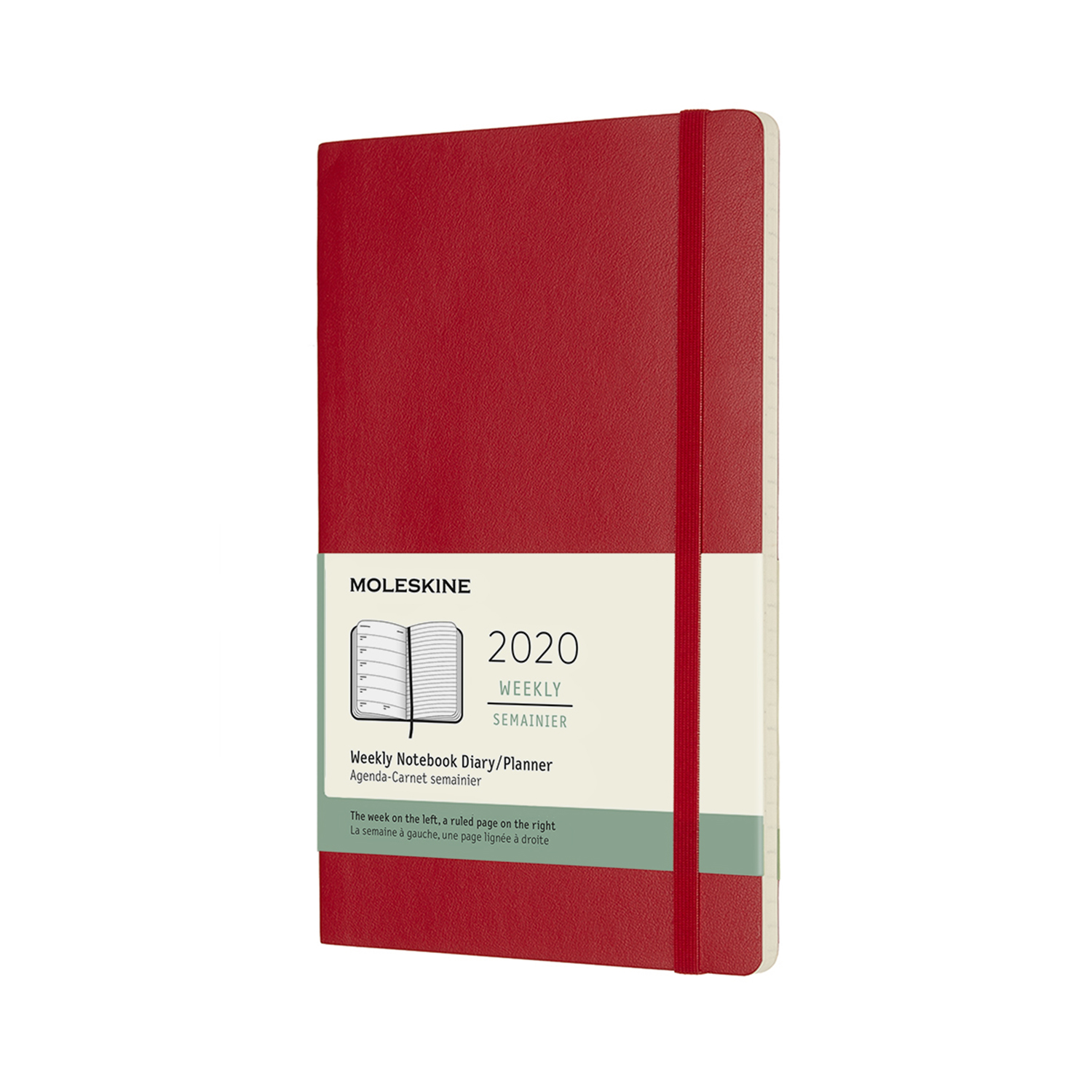 SCARLET RED WEEKLY LARGE SOFTCOVER 2020 DIARY