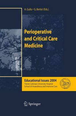 Perioperative and Critical Care Medicine: Educational Issues 2004