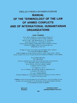 Manual of the Terminology of the Law of Armed Conflicts and of International Humanitarian Organizations