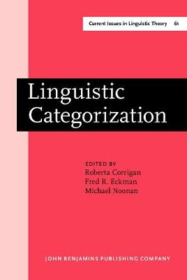 Linguistic Categorization: Proceedings of an International Symposium in Milwaukee, Wisconsin, April 10-11, 1987