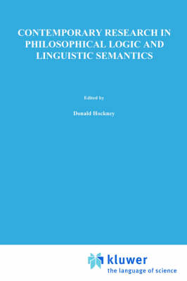 Contemporary Research in Philosophical Logic and Linguistic Semantics