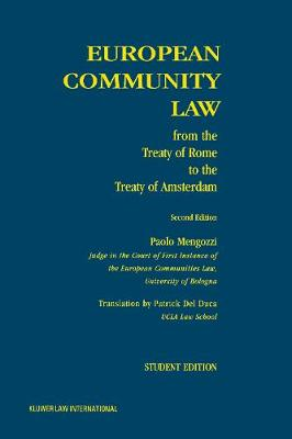 European Community Law: from the Treaty of Rome to the Treaty of Amsterdam