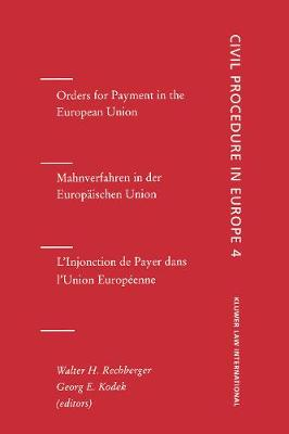Orders for Payment in the European Union: Orders for Payment, Vol 4