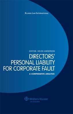 Directors' Personal Liability for Corporate Fault: A Comparative Analysis