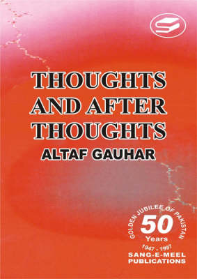 Thoughts and After Thoughts